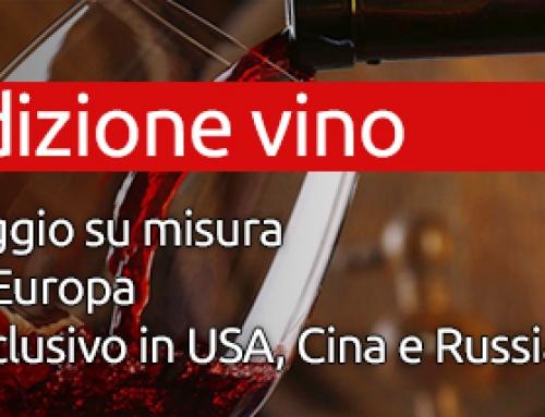 Spedizione di vino in USA, Cina e Russia