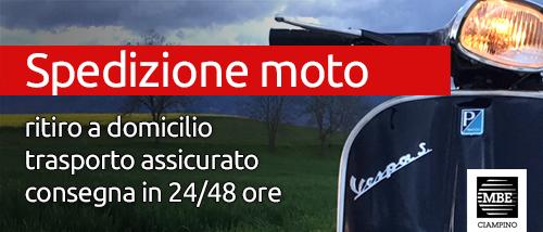 Spedizione moto e scooter Mail Boxes Etc. Ciampino - Roma